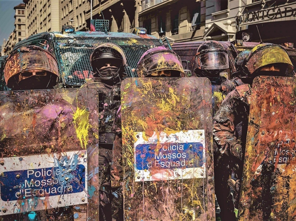 Španija brez rešitve, Katalonija v spirali protestov